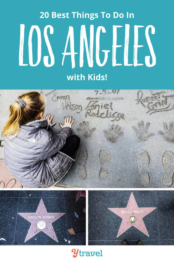 20 fun and interesting things to do in Los Angeles with kids. Tips on visiting Hollywood, Universal Studios, Santa Monica, Warner Bros Studios tour and much more. Plus get tips on where to stay in LA, hotels, how to save money on Los Angeles attractions, and how to get around LA.. See blog post now for all the LA travel tips for your family vacation. #LosAngeles #California #LA #familytravel #travelwithkids #vacation #familyvacation #latravel #losangelestravel
