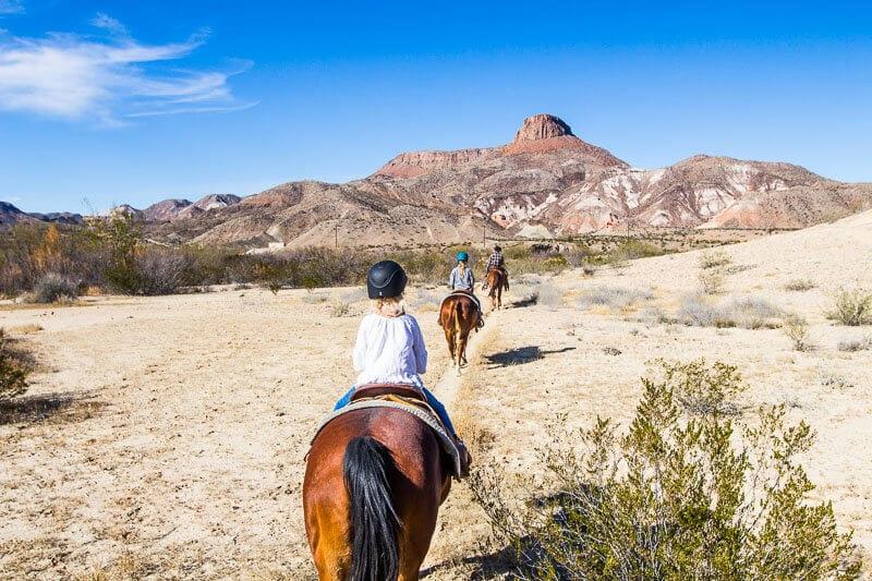 Horse riding at Lajitas, Texas