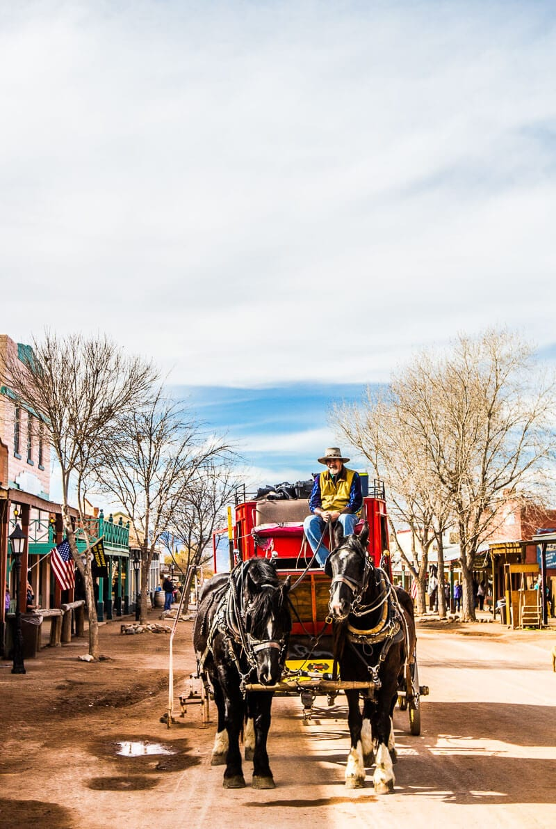 STage Coach ride in Tombstone, Arizona