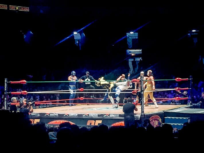 Lucha Libre Match in Mexico City