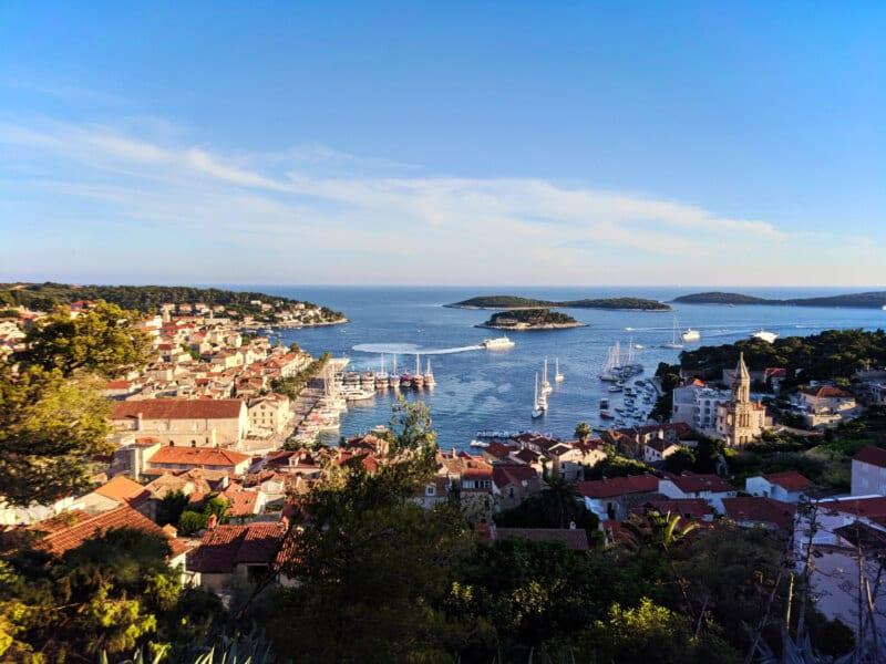 View of Hvar from Fortica Fortress Spanjola Hvar Croatia Islands