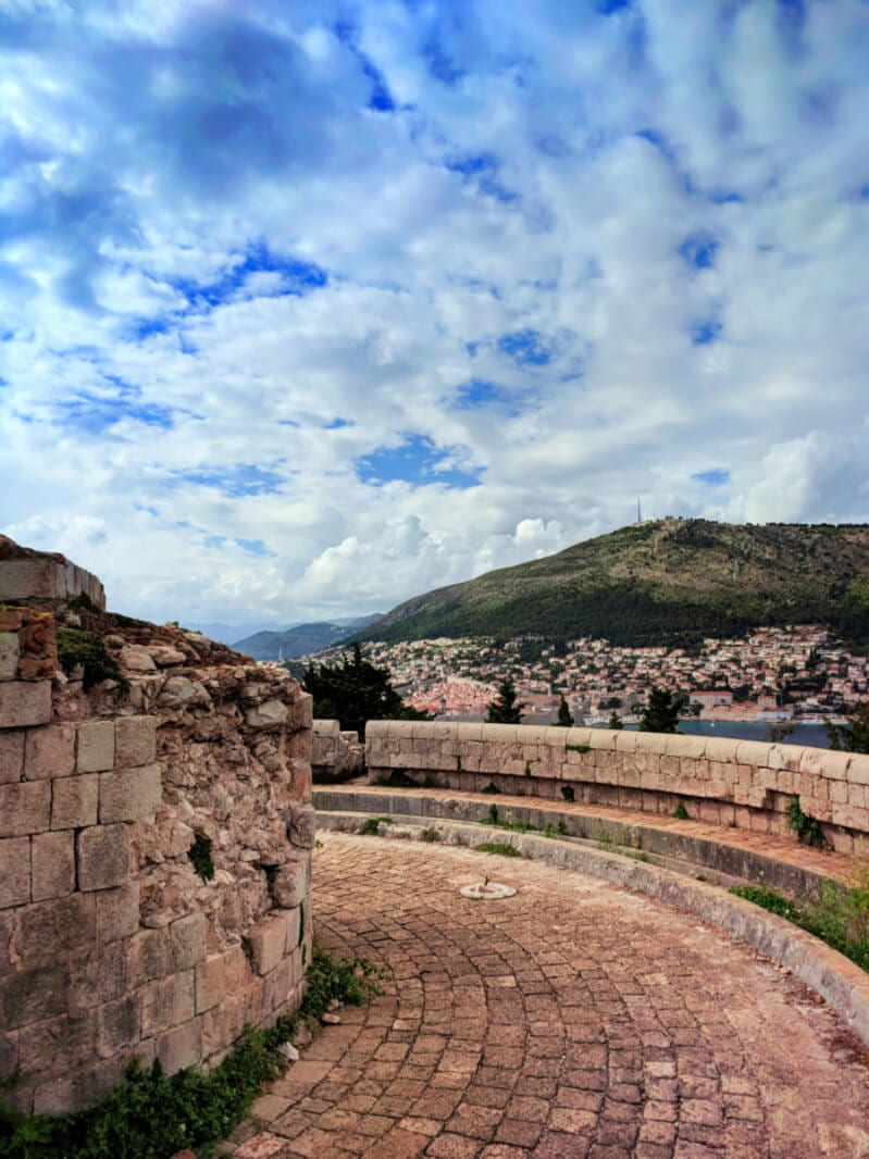 View of Old Town Dubrovnik from Fort Royale Otok Locrum Island Dubrovnik Croatia cruise
