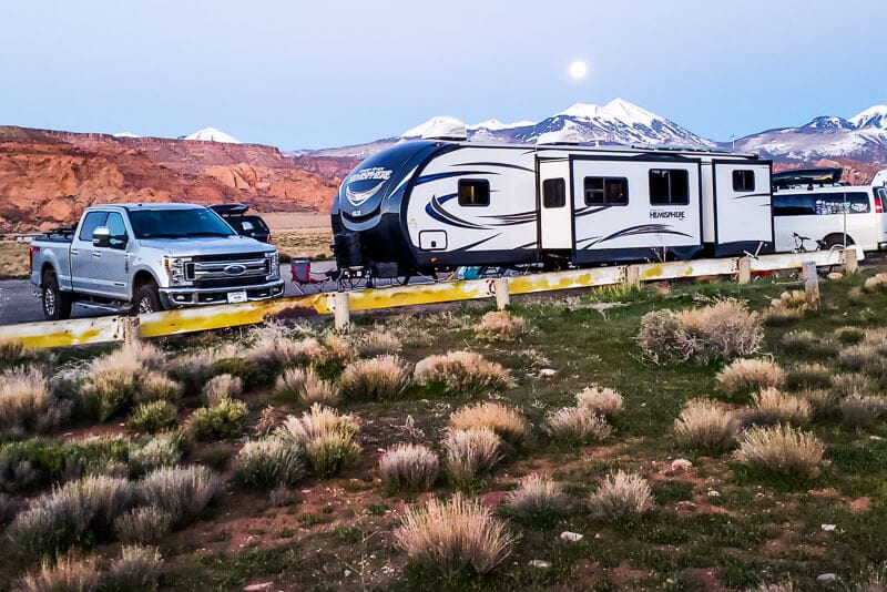 Boondocking Airport Strip Moab