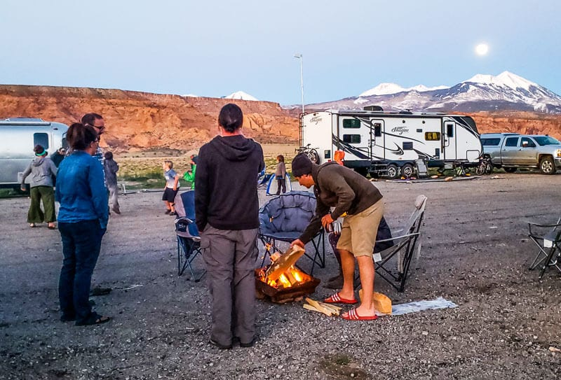 Boondocking moab airport