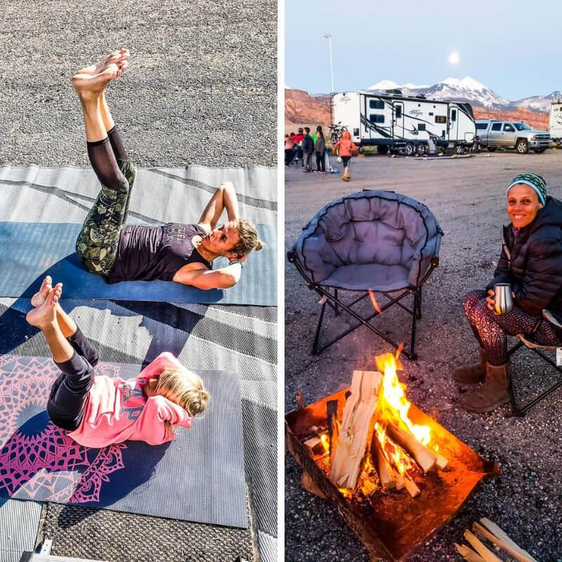 Camping in Moab, Utah