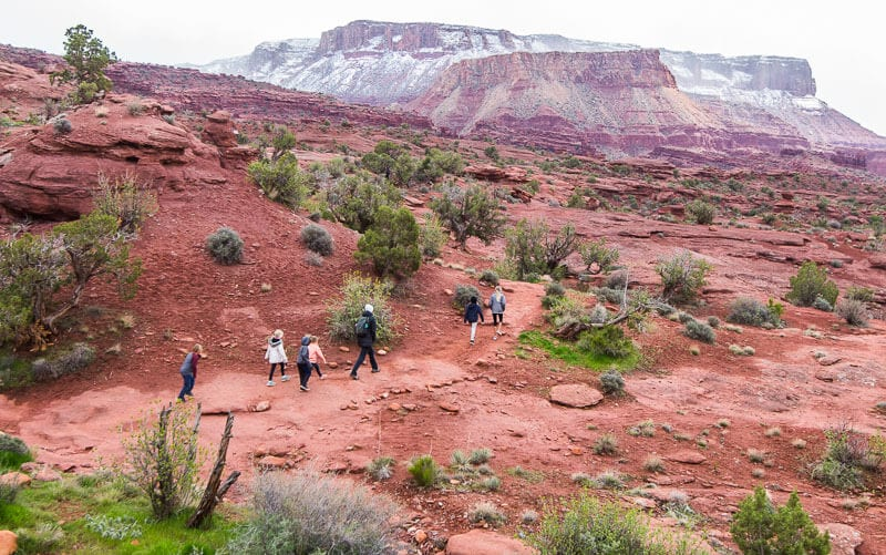 Fisher Towers hike Moab