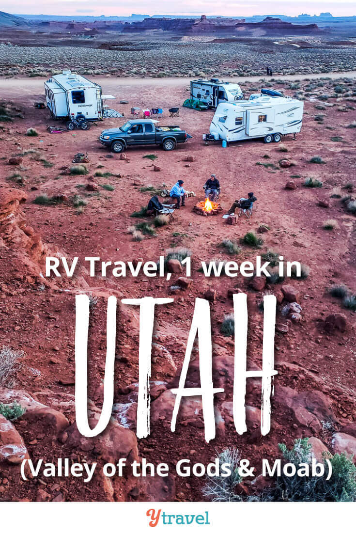 Utah RV Trip. Week 19 of our USA road trip saw us visit Moab and Valley of the Gods in Utah. This is an awesome RVing destination, it is RV family travel at it's finest. See our blog post for our trip highlights, tips, costs, and RV travel lessons from the road. Boondocking tips, hikes, scenic views, photography opportunities, things to do in the area with kids and more