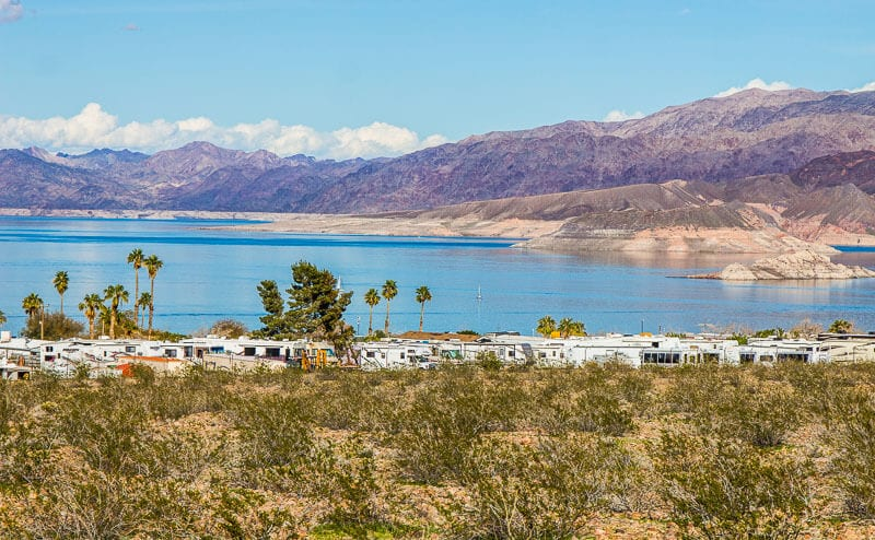 LAke Mead National Recreation Area - places to visit near Vegas.