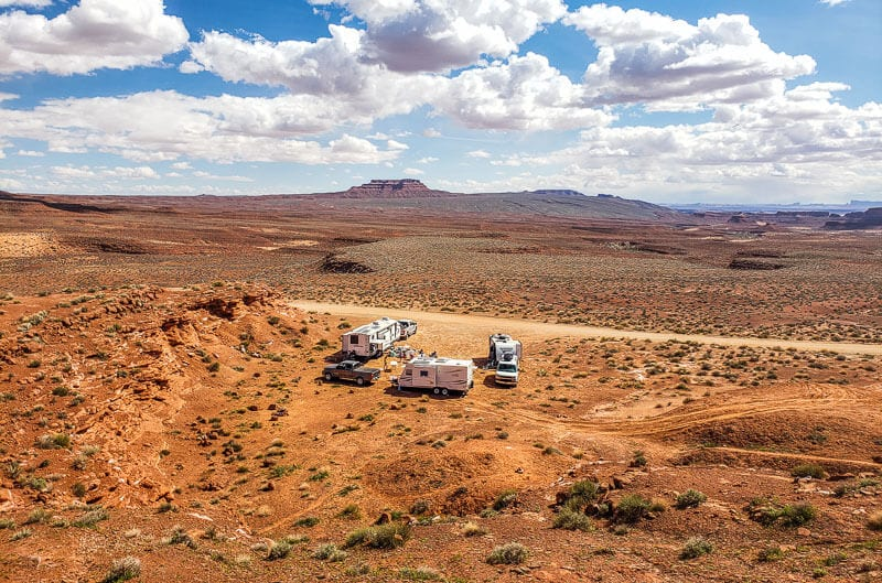Boondocking in Valley of the Gods