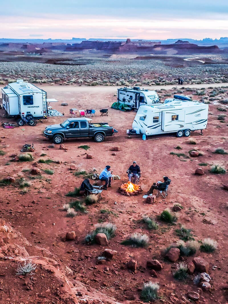 Camping in Valley of the Gods, Utah