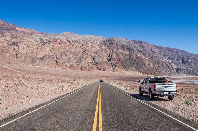 On the road to Badwater Basin in Death Valley