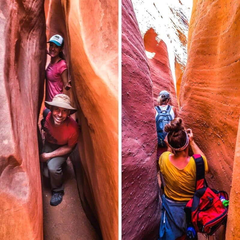 Slot canyons in Escalante, Utah