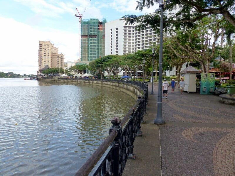 The riverfront in Kuching