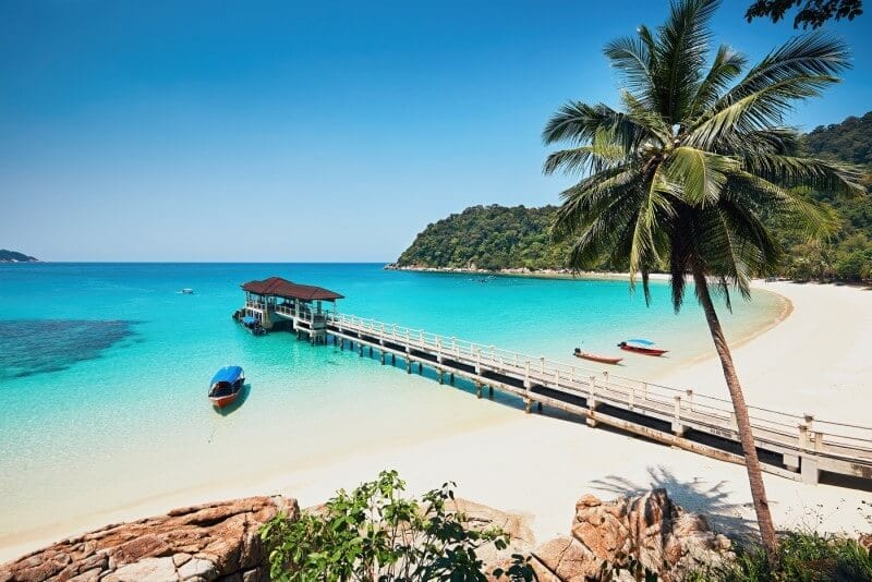The beach at the Perhentian Island Resort