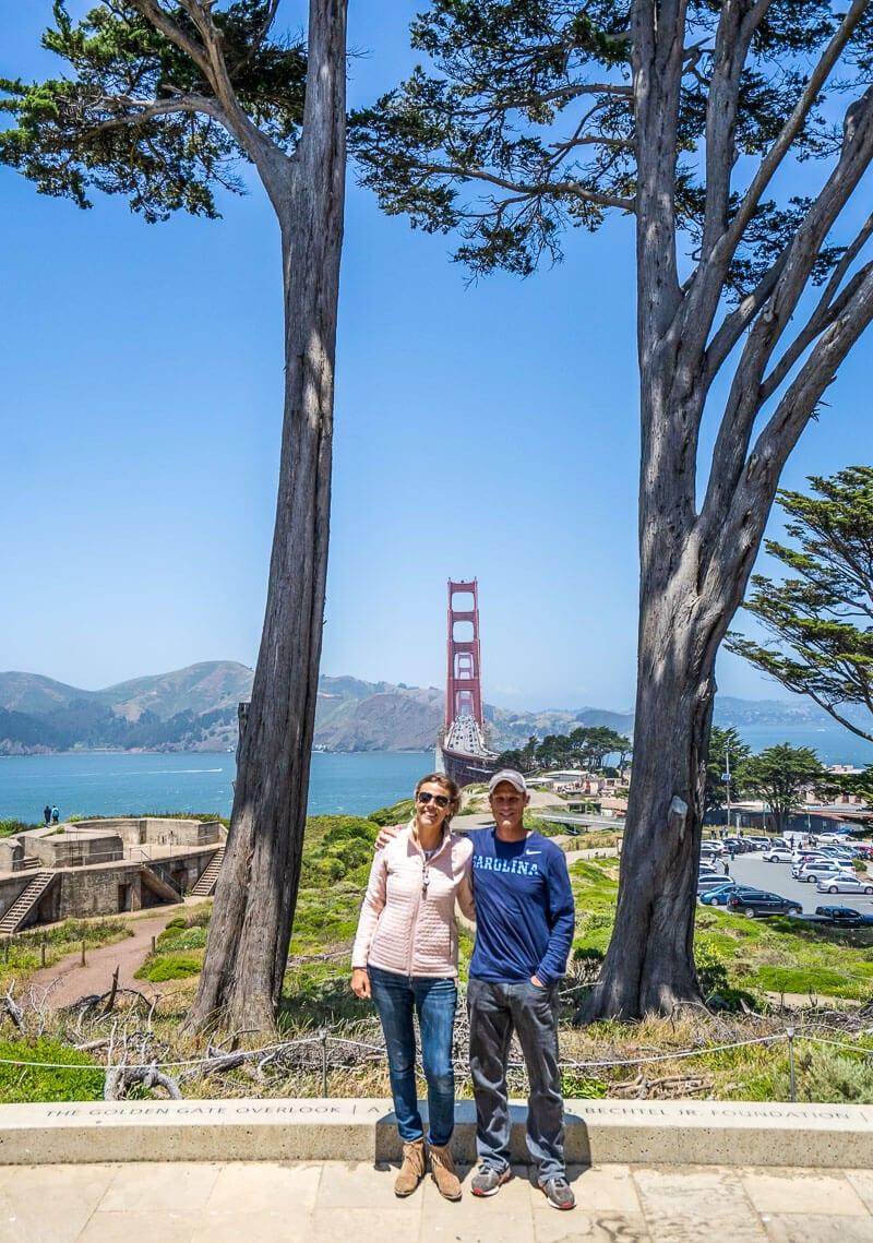 Golden Gate overlook presidio
