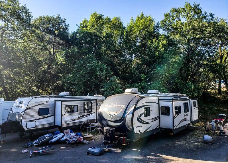 Russian River California camping