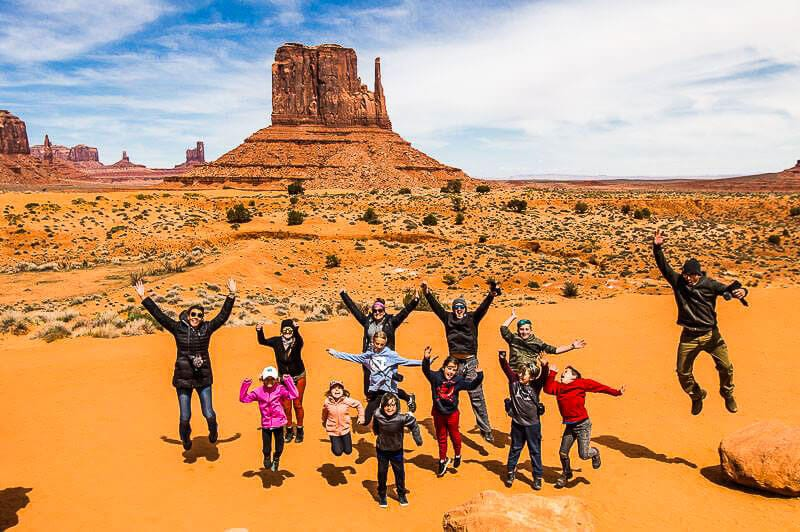 Jumping at Monument Valley
