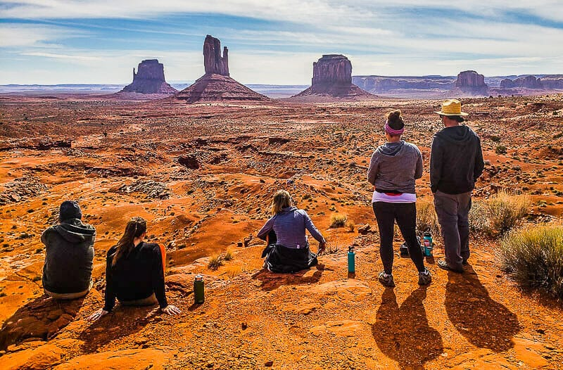 Sitting down in the desert at Monument Valley Navajo Tribal Park