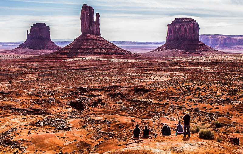 The huge rocks at Monument Valley