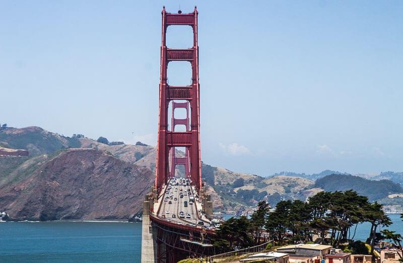 Golden Gate Bridge view from Presidio