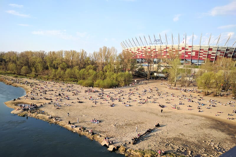 the Riverside in Warsaw