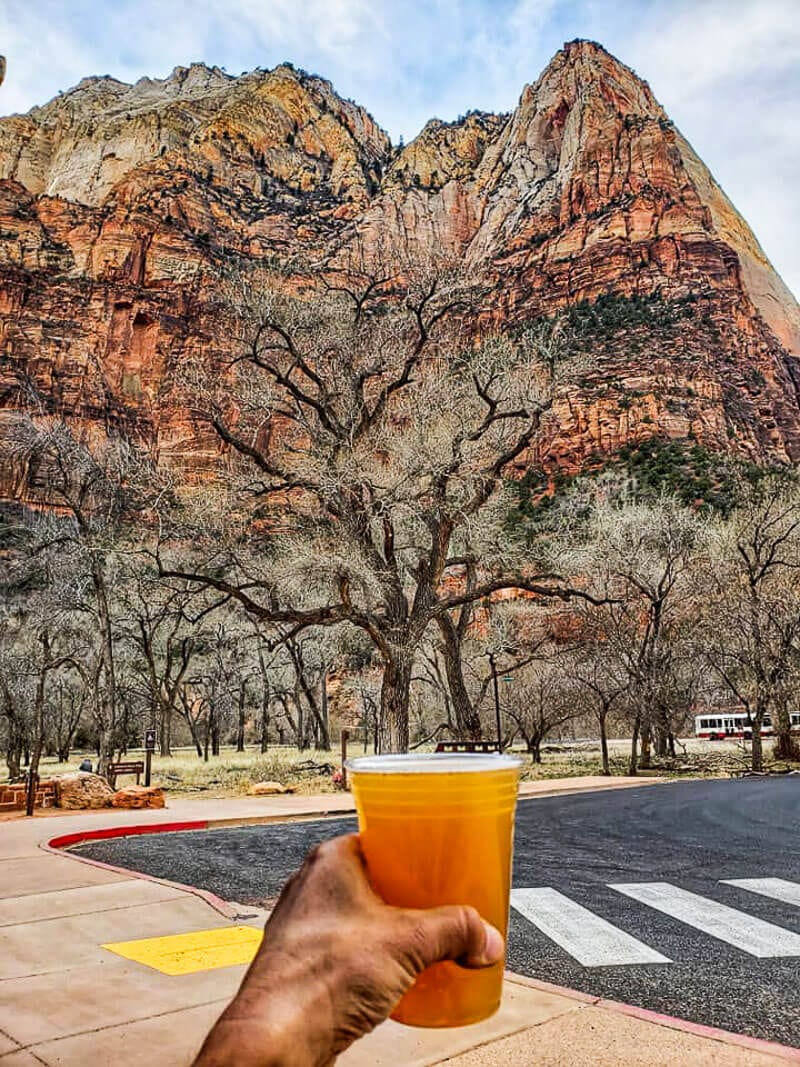 Zion lodge craft brew and view