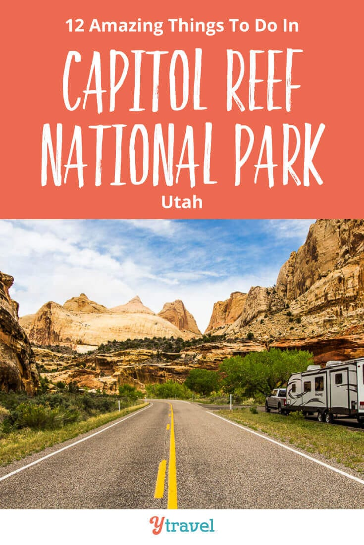 Planning to visit Utah? Here are 12 amazing things to do in Capitol Reef National Park including the best hikes, scenic drives, and places to stay! Don't miss this National Park on your American Southwest road trip itinerary! See why inside now!