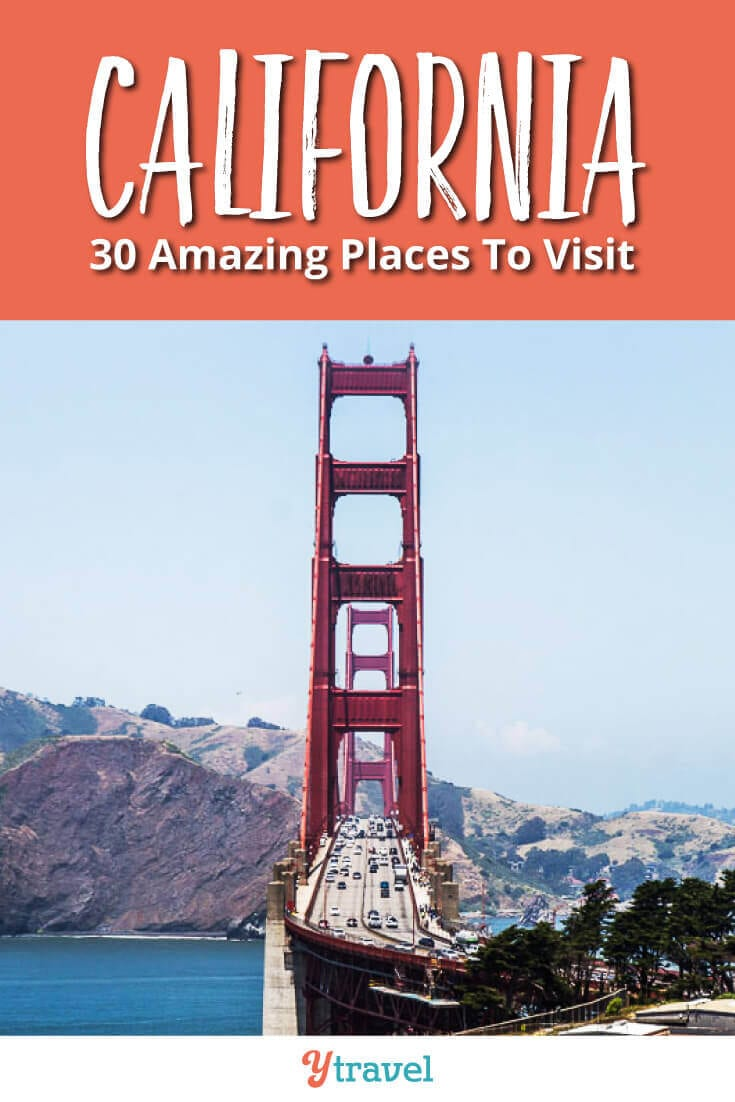 Dreaming of things to do in California? Here are 30 incredible places to visit in California for your travel bucket list. Don't visit California on your vacation until you have read this California travel tips guide!