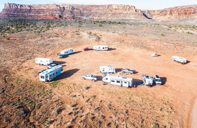 Moab Boondocking near ARches National Park,