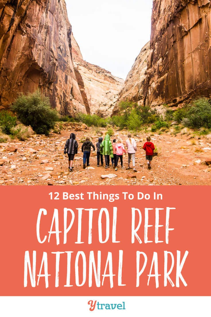 Planning at trip to Utah? Here are 12 incredible things to do in Capitol Reef National Park including the best hikes, scenic drives, and places to stay! Don't miss this National Park on your American Southwest road trip itinerary! See why inside now!
