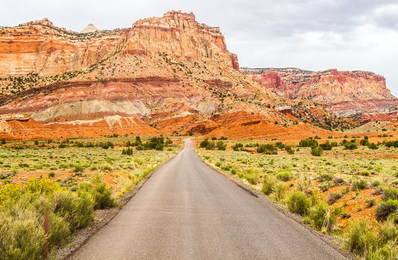 The Capitol Reef Scenic Drive