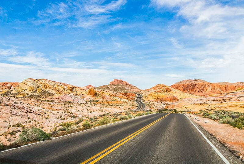 Scenic drive through VAlley of Fire