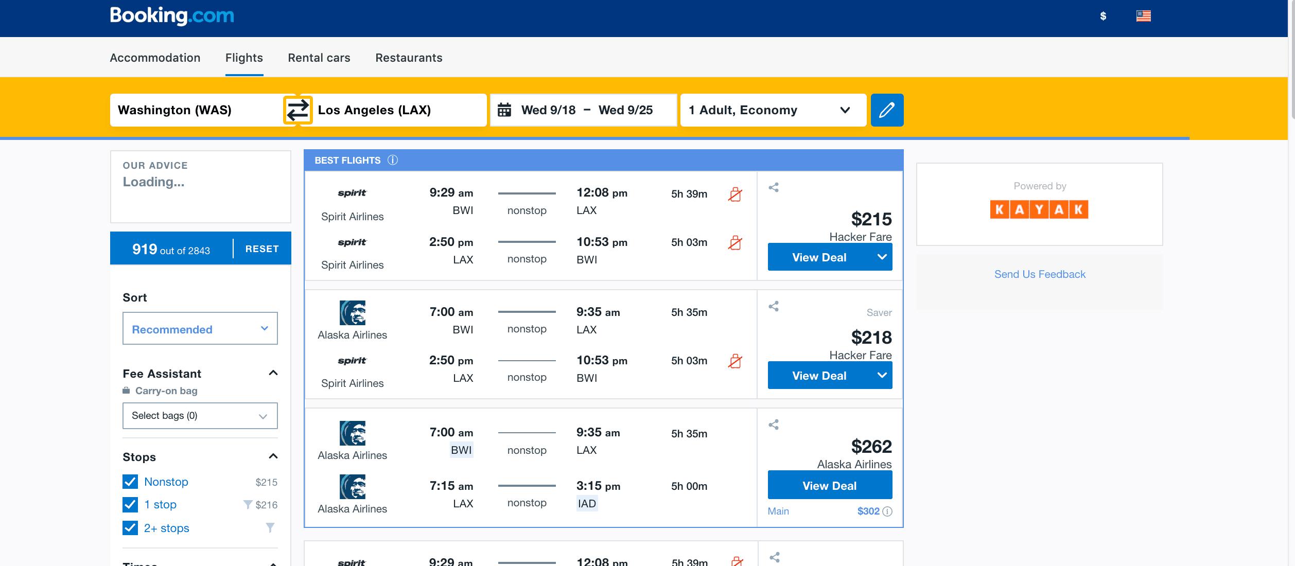 Booking.com Screenshot