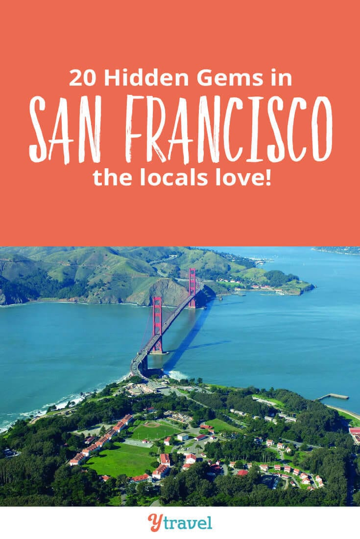 Planning to visit San Francisco? Here are 20 hidden gems in San Francisco that the locals also love to visit. Consider adding these to your San Francisco itinerary for your California vacation.