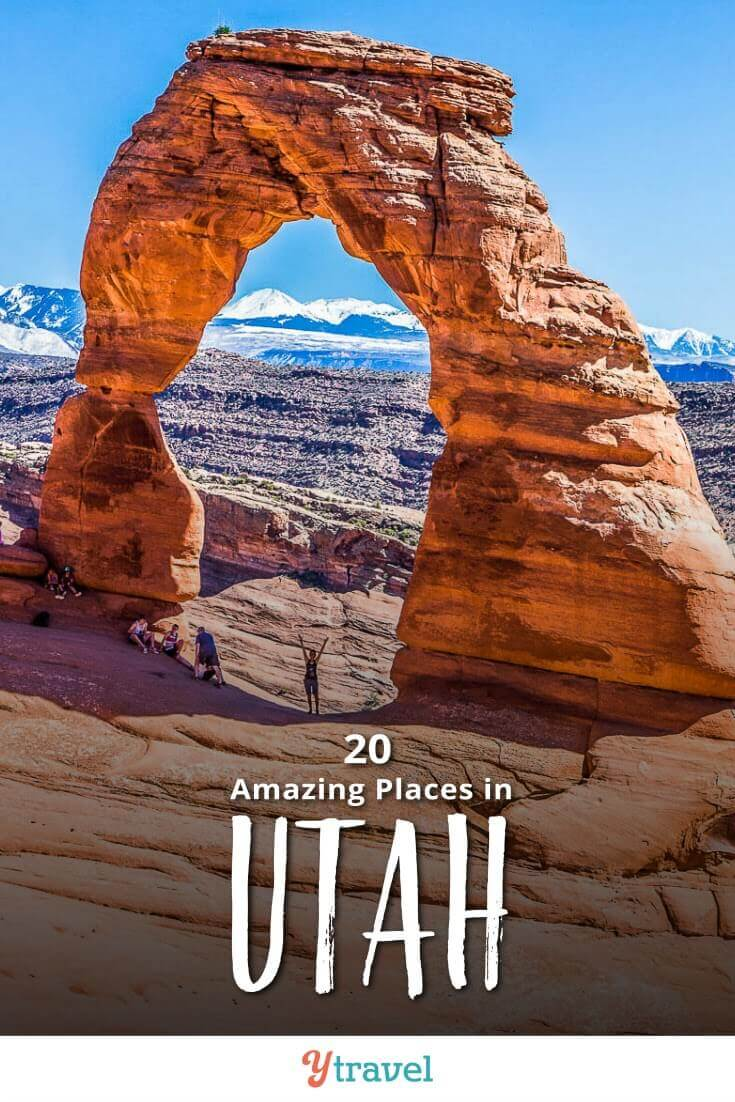 Want to visit Utah? Here are 20 incredible places to visit in Utah for your Utah road trip. Don't take a Utah vacation before reading this Utah travel guide!
