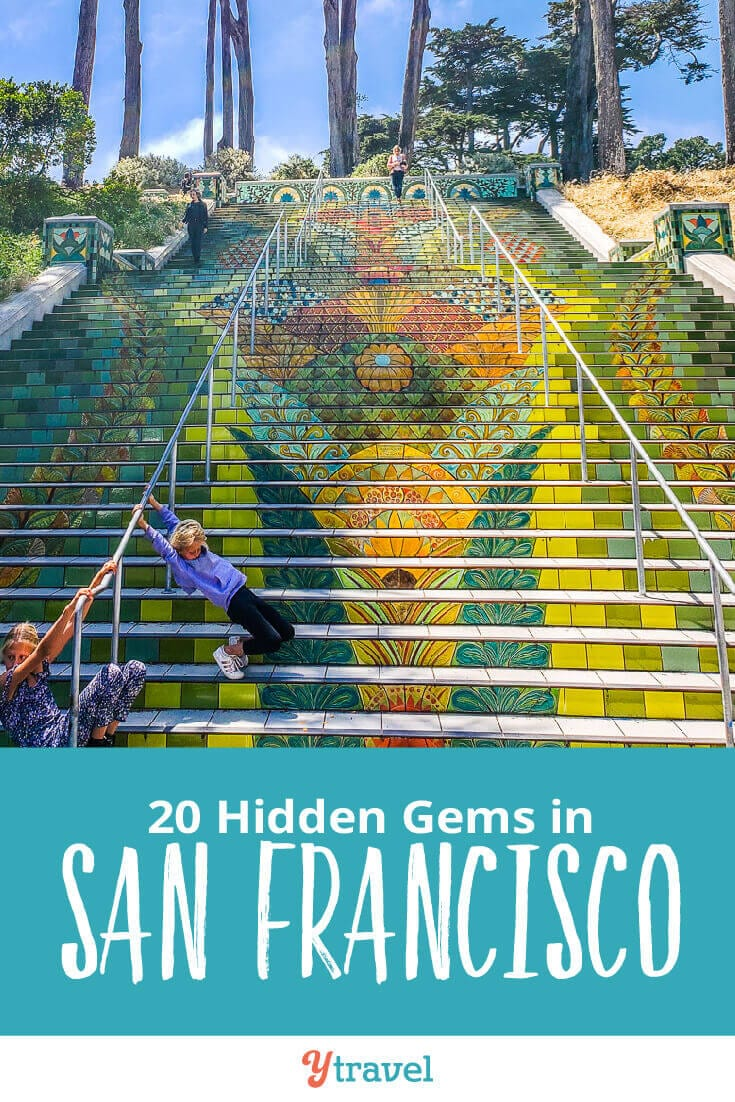 Planning a trip to San Francisco? Here are 20 hidden gems in San Francisco that the locals also love to visit. Consider adding these to your San Francisco itinerary for your California vacation.