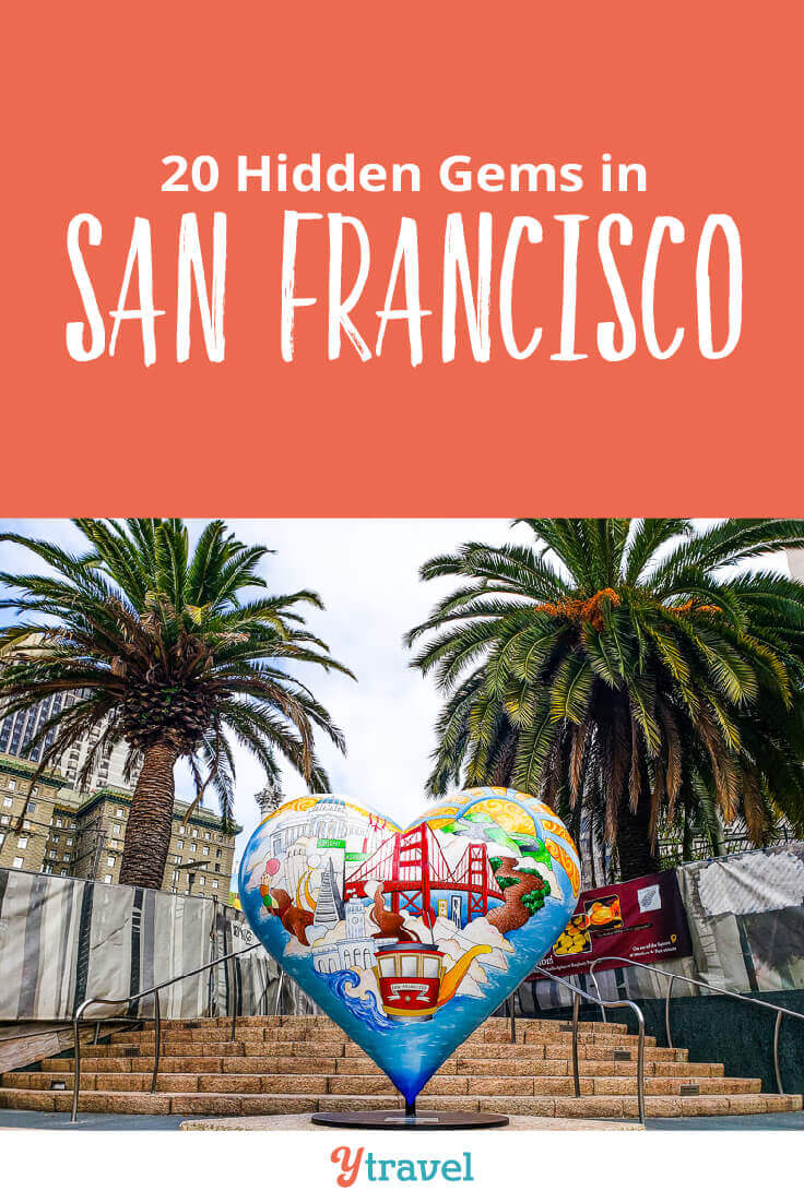 Looking to San Francisco? Here are 20 hidden gems in San Francisco that the locals also love to visit. Consider adding these to your San Francisco itinerary for your California vacation.