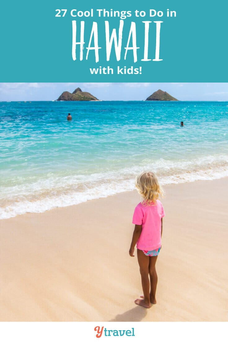 Want to take a Hawaii family vacation? Here are 27 fun things to do in Hawaii with kids, that adults love doing too, plus suggestions on kid friendly hotels in Hawaii and cool places to eat! Don't take a Hawaii vacation with kids until you read this Hawaii travel tips guide!
