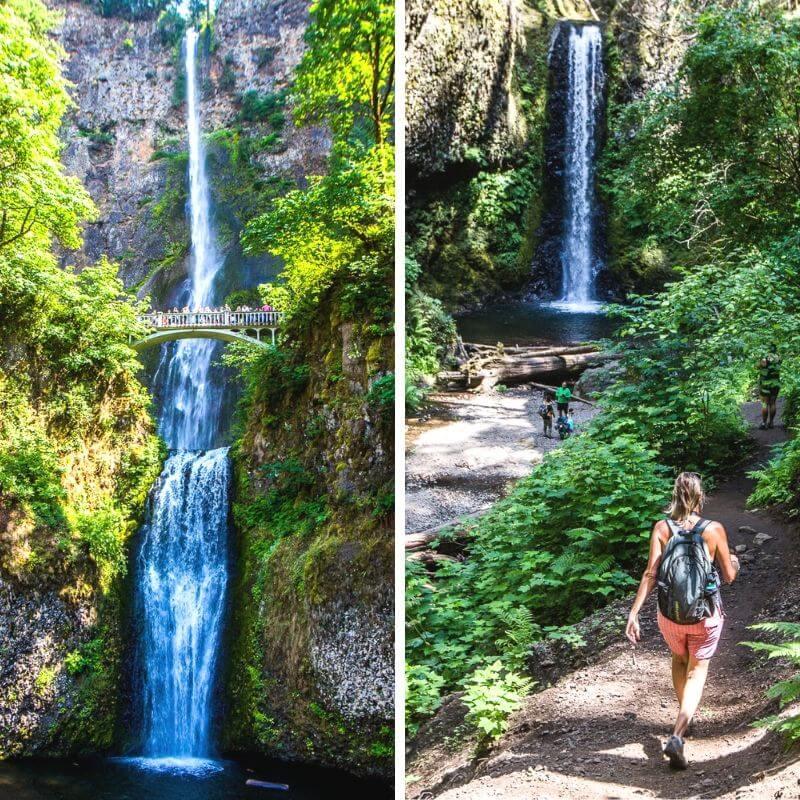 Multnomah Falls, dans l'Oregon. Une des meilleures choses à voir dans l'Oregon