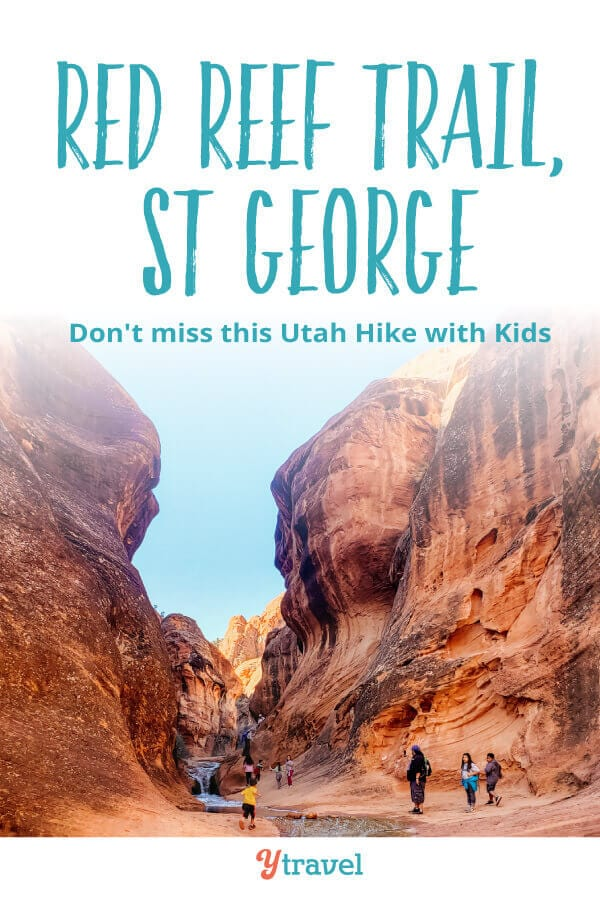 Looking for adventurous things to do in St George Utah? Be sure to put this Red Reef Trail on your list of best hikes in Utah. It's a fun hiking trail especially with kids for your Utah bucket list.