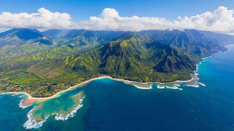 vue aérienne de kauai