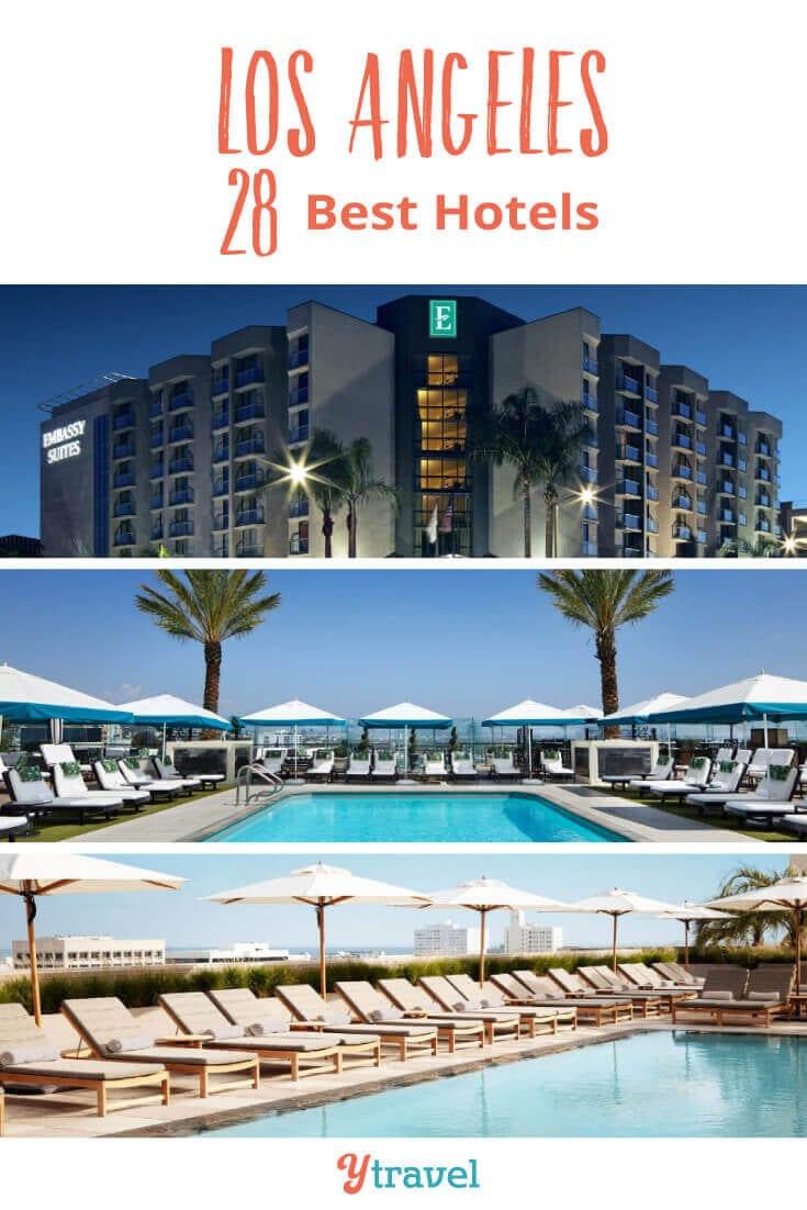 """Envisagez-vous un voyage à Los Angeles? Voici 28 des meilleurs hôtels à Los Angeles. Choisissez parmi les hôtels de Los Angeles situés dans les quartiers les plus populaires de Los Angeles, tels que Santa Monica, Hollywood, le centre-ville de Los Angeles et LAX. Ne réservez pas vos vacances à Los Angeles avant d'avoir lu ces conseils de voyage à Los Angeles. """"Aria-shownby ="""" galerie-2-91221"""