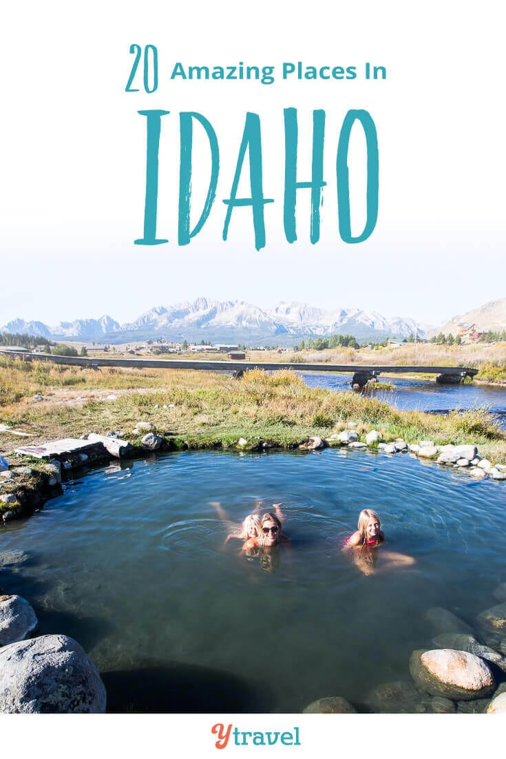 Looking for places to visit in Idaho? Here are 20 amazing things to do in Idaho on your Idaho vacation from north to south and in between. Don't take an Idaho trip before reading this Idaho travel tips guide!