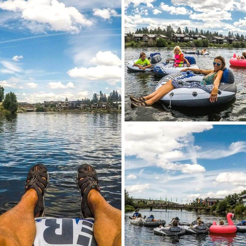 Tubing the river in Bend, Oregon