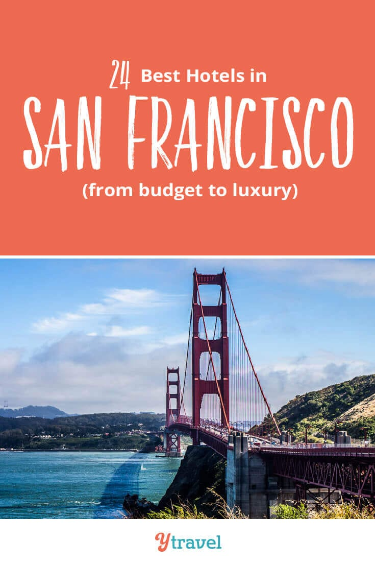 You taking a San Francisco vacation? Read this San Francisco Hotels Guide about 24 of the best hotels in San Francisco from budget to luxury in the most popular San Francisco neighborhoods. Don't take a San Francisco trip before reading these San Francisco travel tips.