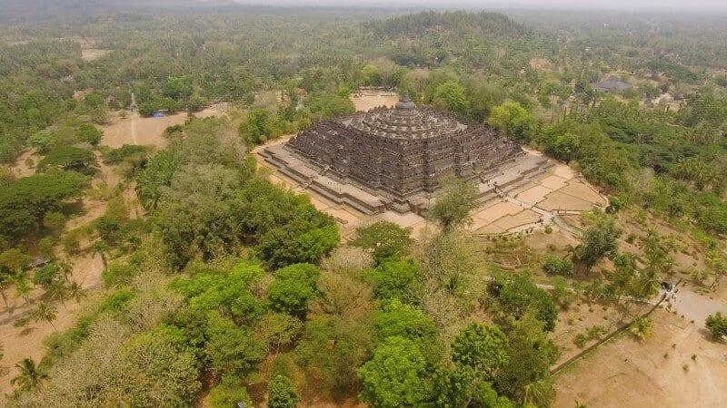 ancient borobudur temple java indonesia