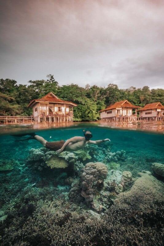 Snorkeling in Raja Ampat, Indonesia