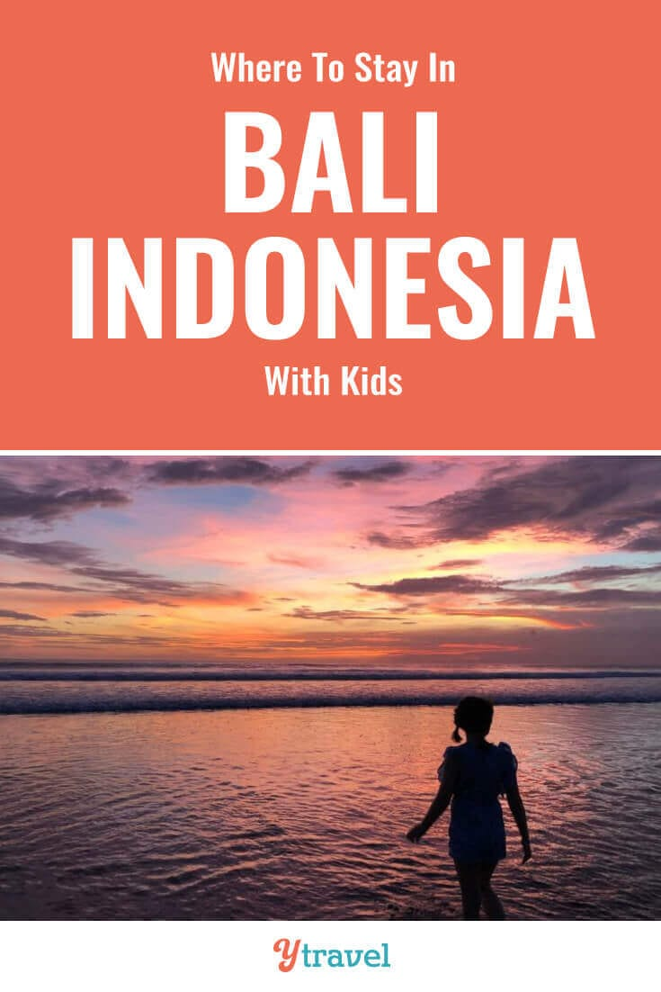Planning to visit Bali Indonesia? Here are 10 places to stay in Bali with kids that adults love too. Check out these hotels in Bali with kids clubs, pools, and family friendly rooms. Don't take a Bali vacation before reading about these family-friendly resorts in Bali.