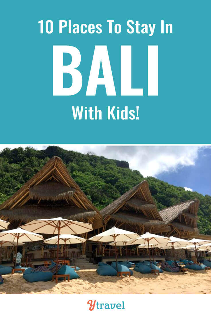 Here are 10 amazing places to stay in Bali with kids that adults love too. Check out these hotels in Bali Indonesia that come with kids clubs, pools, and family friendly rooms. Don't take a Bali vacation before reading about these family-friendly resorts in Bali.