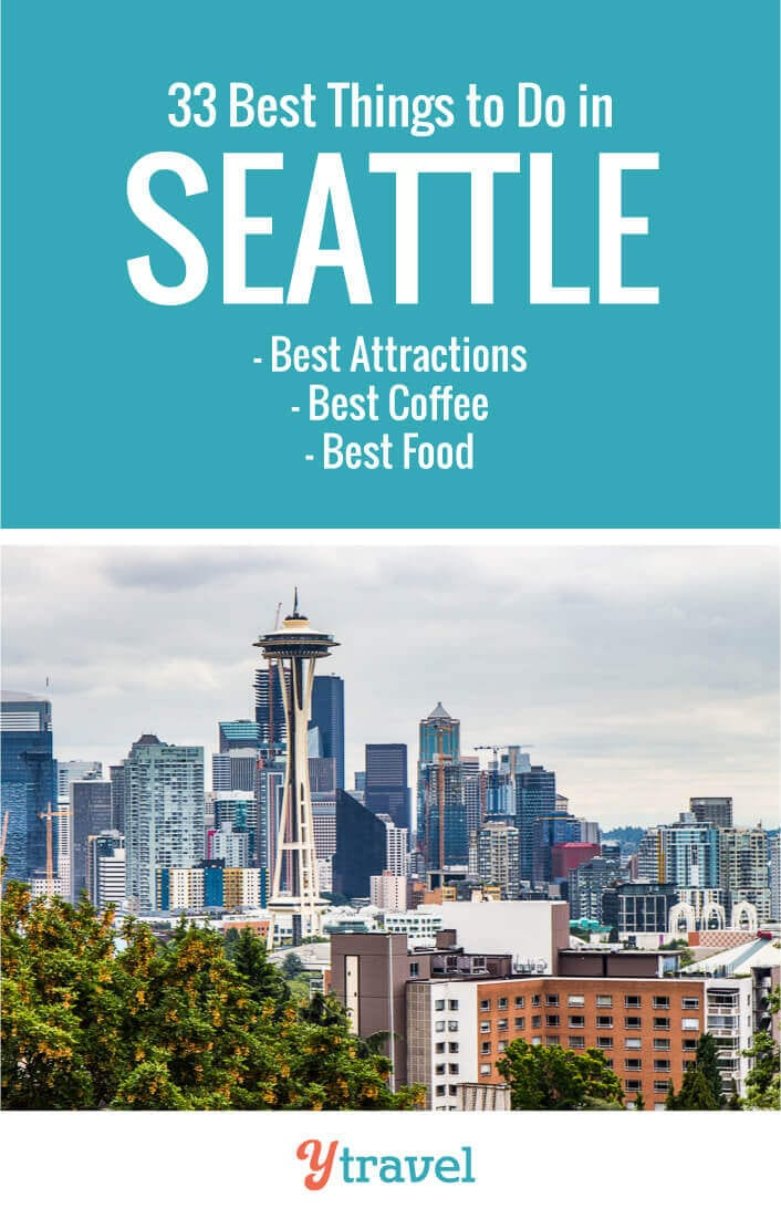 Researching a trip to visit Seattle? Here are 33 cool things to do in Seattle Washington plus suggestions on where to eat, where to find the best coffee, and places to stay. Seattle travel tips | Washington | Seattle vacation | Seattle trip | USA travel | travel | travel tips | Coffee in Seattle | Seattle coffee | family travel | vacation.